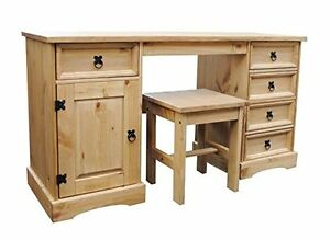 corona 5 drawer dressing table computer desk work station. Black Bedroom Furniture Sets. Home Design Ideas