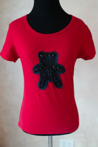 Prada-Red-Woman-T-shirt-Authentic-Size-XS-S