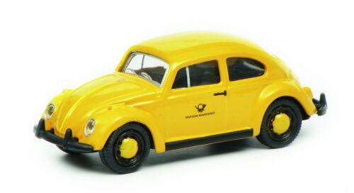 Schuco 1:87 452640300 VW BEETLE DEUTSCHE BUNDESPOST Jaune Nouveau neuf dans sa boîte