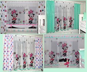 Details zu Disney Minnie Mouse Gardine Kindergardine Kinderzimmer Baby  Gardine Vorhänge NEU
