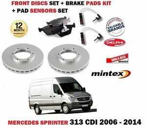 FOR MERCEDES SPRINTER 313D 2006-> FRONT BRAKE DISCS SET + DISC PADS + SENSOR KIT
