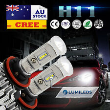 Pair H11 LED Headlight Upgrade Kit Driving Lamp for Toyota Landcruiser 200 AU