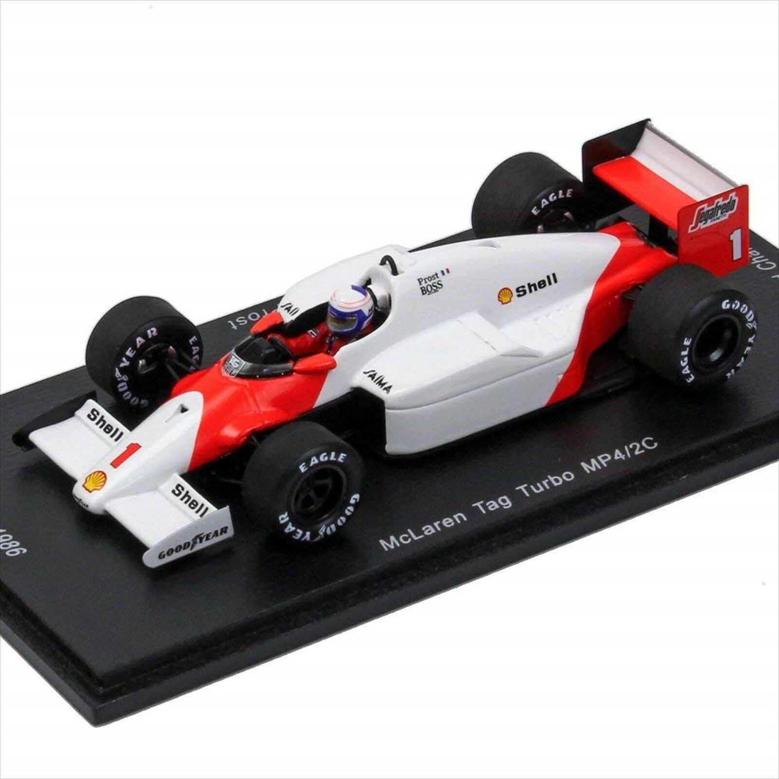 Spark 1 43 McLaren 50th TAG TURBO MP4 2C Alain Prost 1986 campeón mundial Nuevo