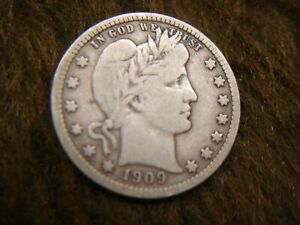 1909-D-BARBER-QUARTER-NICE-DETAIL-MIGHT-BE-JUST-THE-ONE-YOU-039-RE-LOOKING-FOR