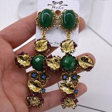 2017 Vintage Fashion Baroque Cross Earrings Eardrop Exaggerated Punk Earrings