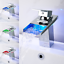 Waterfall LED RGB Bathroom Taps Basin Mono Mixer Bath Tap Single Lever Faucet