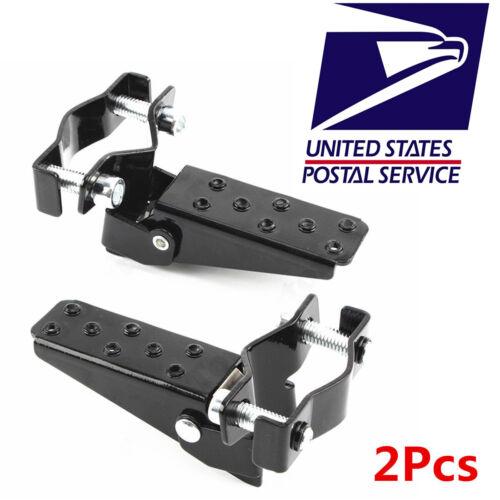 2Pcs 25-28mm Aluminum Motorcycle Shock Absorber Passenger Foot Peg Rear Pedal