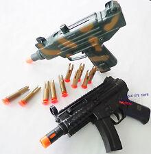 2X Toy Machine Guns! Electronic MP5 w/ Light & Sound FX + Toy UZI Dart Gun Set