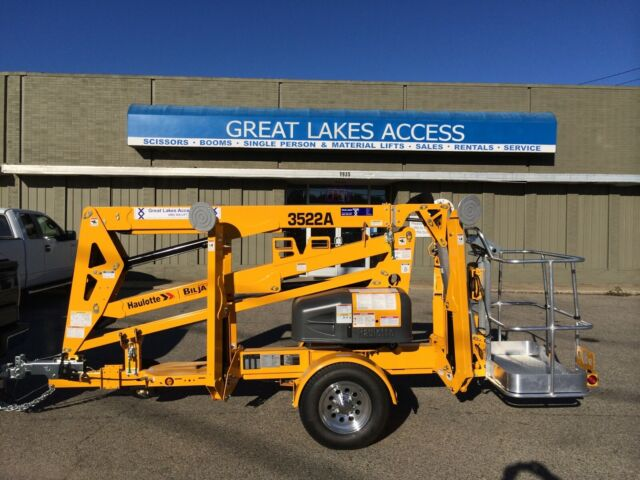 2019 Haulotte 3522A Towable Boom Lift Man 43' Height Bil-Jax Unit, Made in  USA