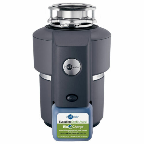 New in Box Insinkerator Evolution Septic Assist 3//4 HP Waste Disposer