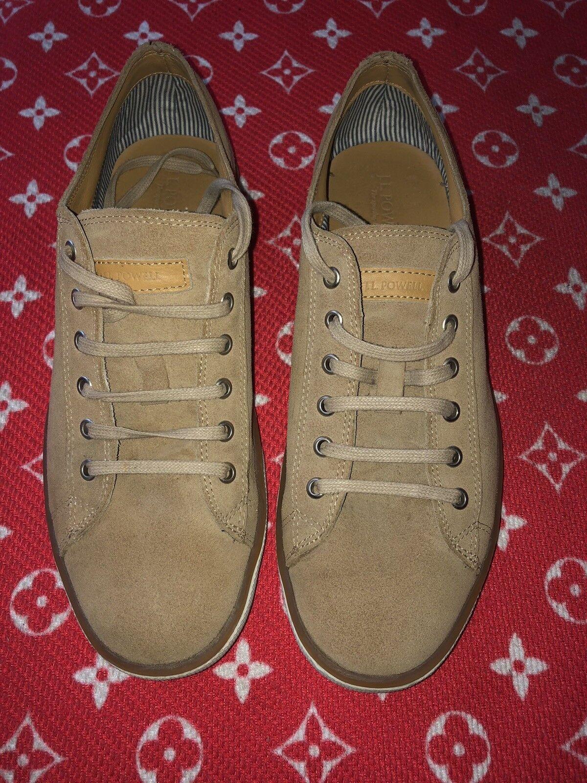 J.L. Powell Mens Suede shoes Beige Size 12