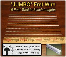 6 Feet JUMBO (Widest/Highest) Frets/Fret Wire for Guitar, Basses &more! 10-04-01