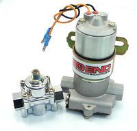 Big-10155 Blue 110 Gph Electric Fuel Pump Regulator 3/8 Npt Ports holley Style