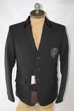 AUTH $1995 Gucci Men Black Polyamide Blazer Jacket 52/L