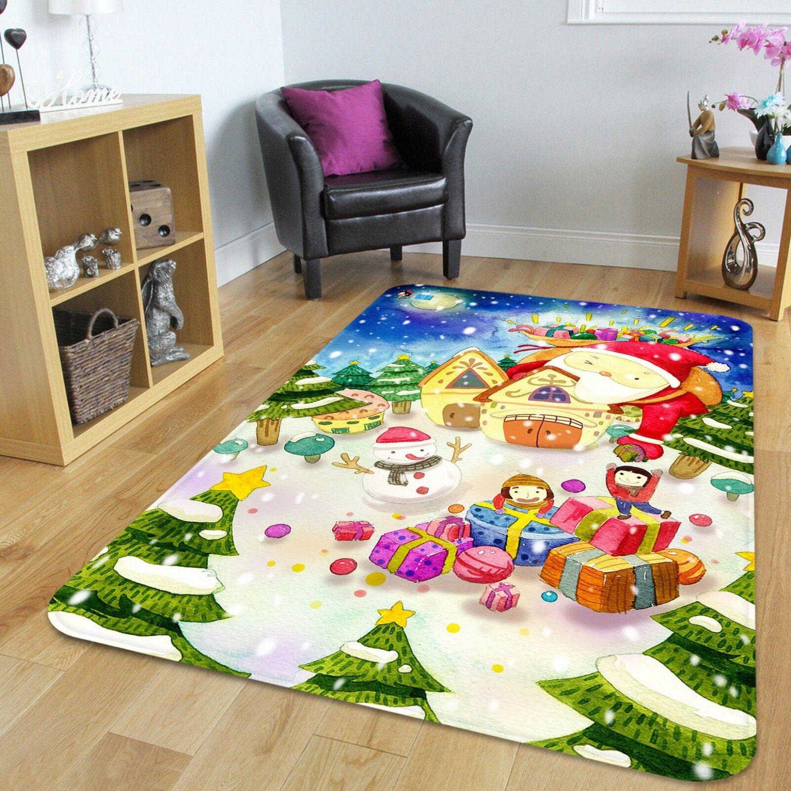 3d navidad Xmas 2 antideslizante alfombra maletero calidad elegante alfombra de