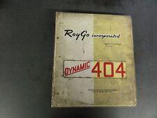 Raygo Self-Propelled Vibrating Roller Model Rustler 404 Operation,Main,Parts Man