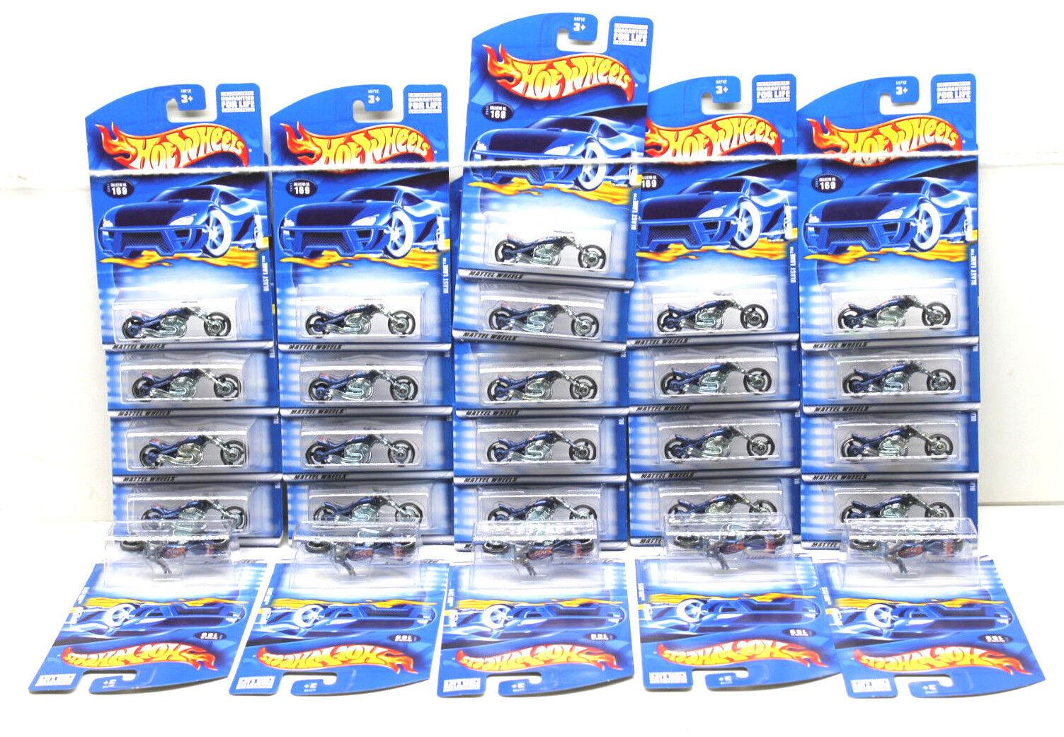 26 PC Hot Wheels Moto Die Cast Lote blu Blast Lane Bicicleta 2000 Mattel Nuevo En Tarjeta