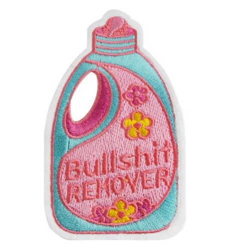 Embroidered  Remover Repellent Iron On Sew On Patch Badge Fabric Applique PB