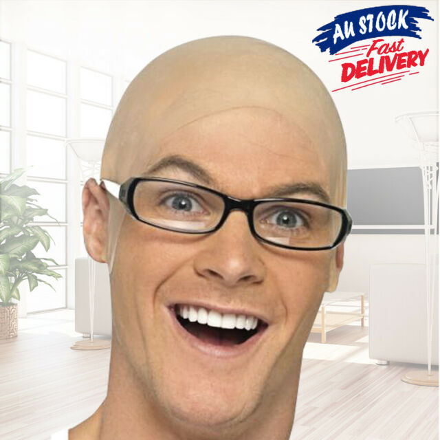 Wig Costume Bald Head Cap Latex Cover Up Party Dress Rubber Skinhead