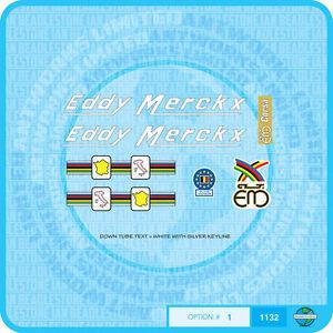 Eddy Merckx Corsa  Bicycle Decals Transfers - Stickers - Set 1