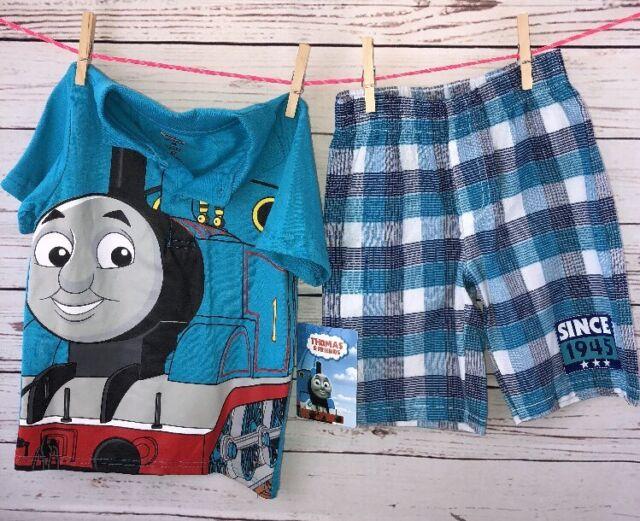 NWT Thomas & Friends Polo Shorts Set Thomas The Tank 4t