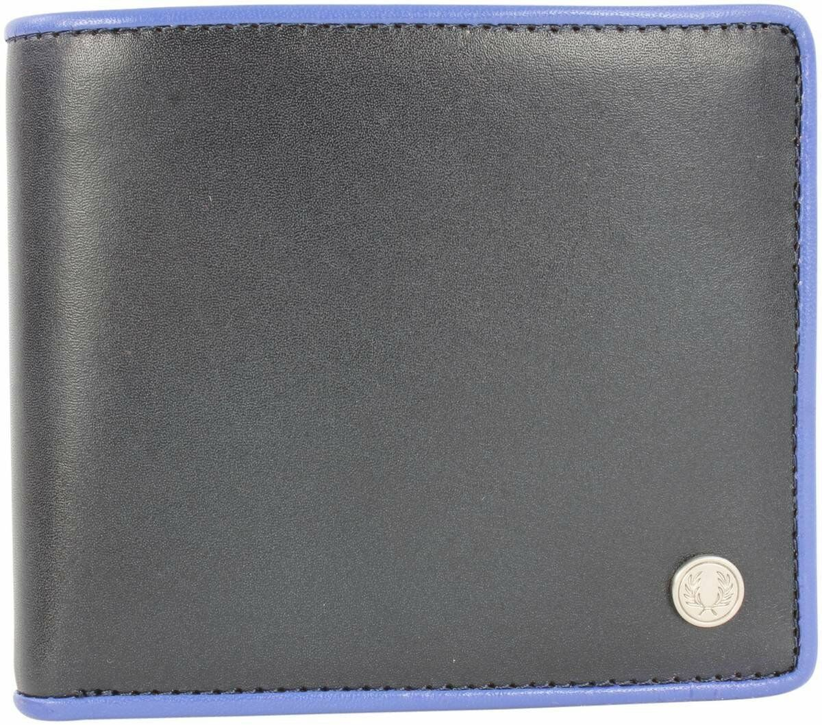 Fred Perry Contrast Tipped Billfold Men's Leather Wallet -- L7315-608 -- Navy
