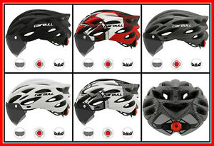 Cycling Helmet Adult Ultralight Removable Visor Goggles Road Bike Taillight MTB