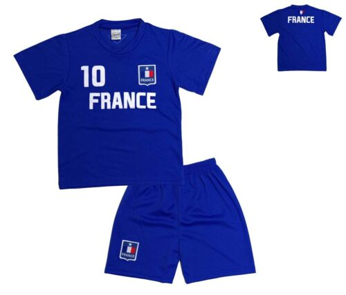 KINDER FUSSBALL TRIKOT SET *HOSE /& SHIRT* FRANKREICH FRANCE