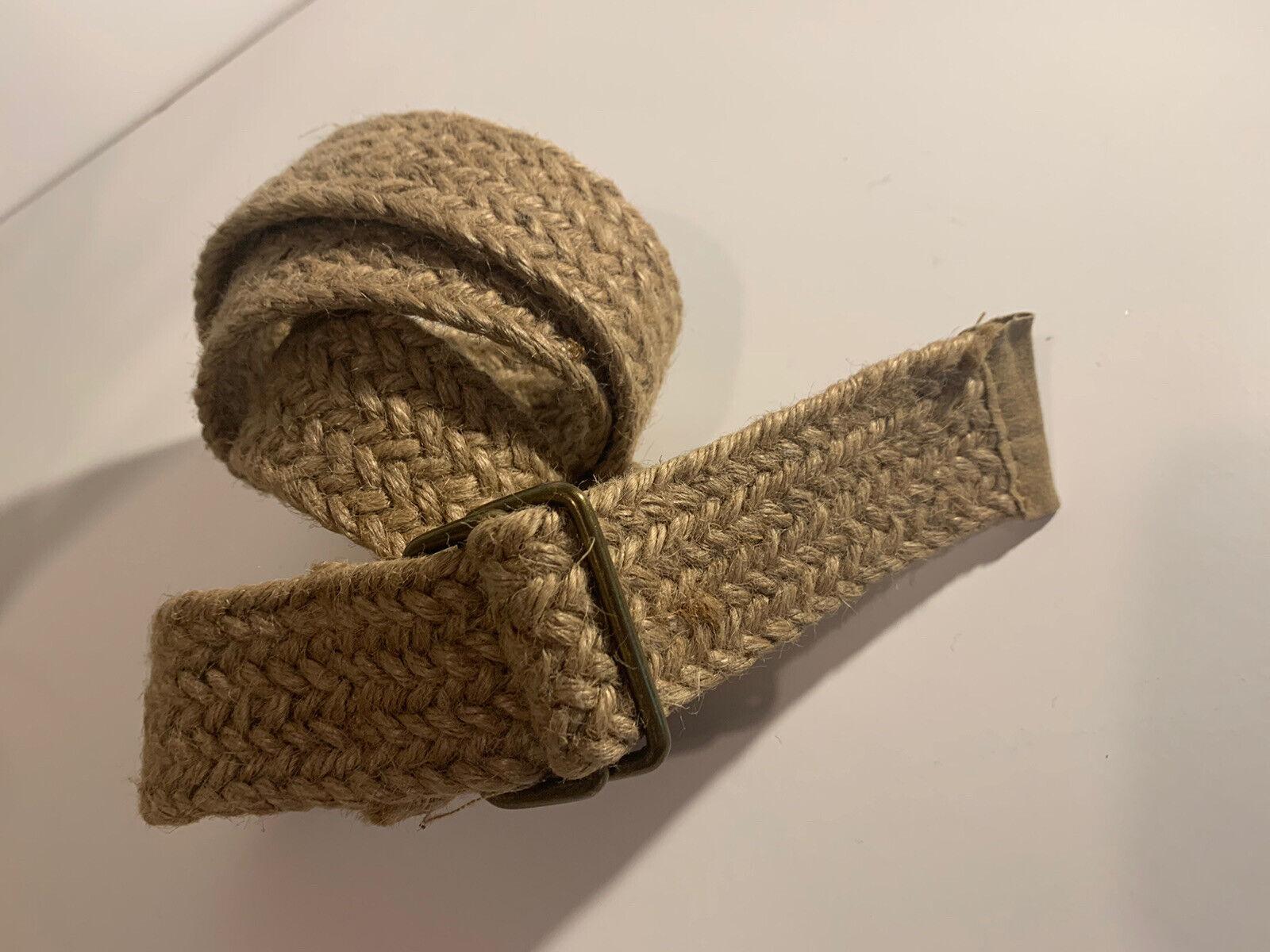 100% Jute Belt Boho Vintage raw 46