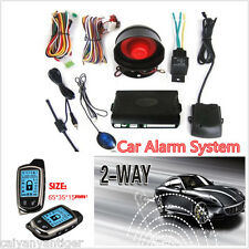 2 Way Car Alarm Security System With LCD Long Distance Controlers Anti- theft