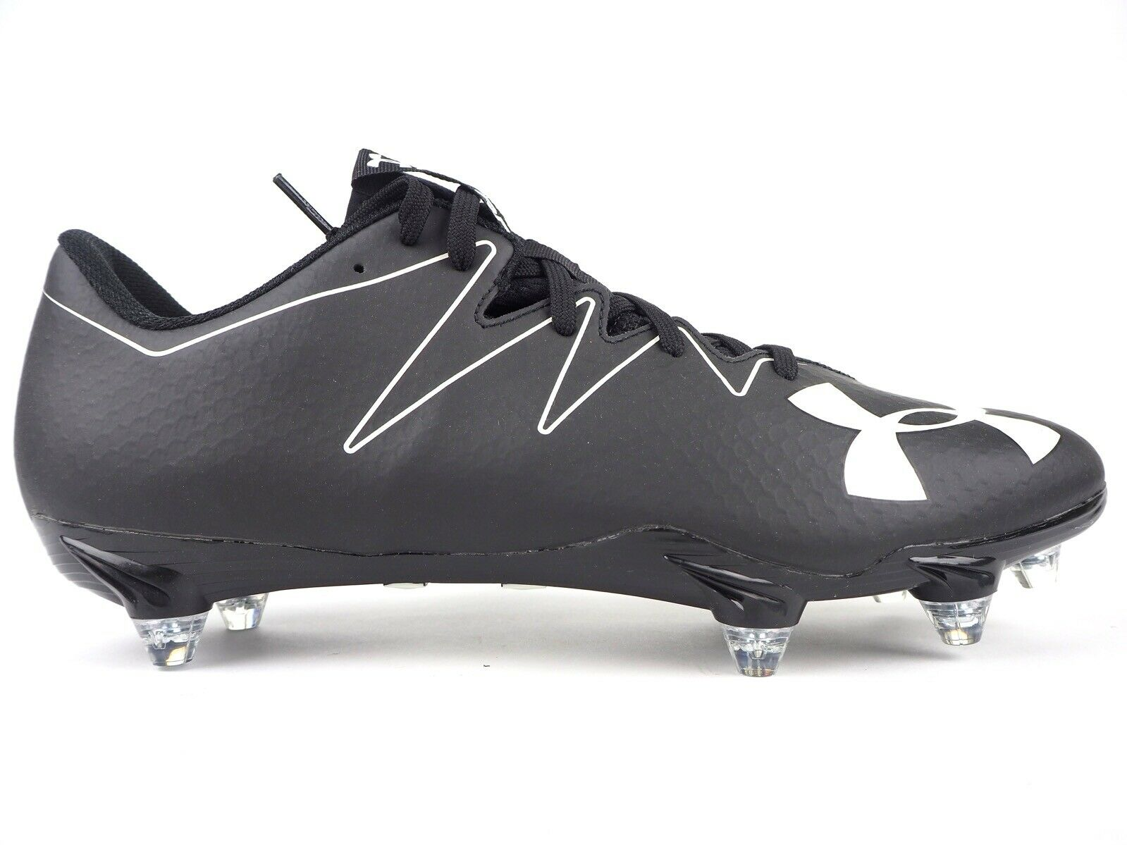 Para hombre Debajo de armadura equipo Nitro Baja D Negro blancoo terreno blando botas de fútbol