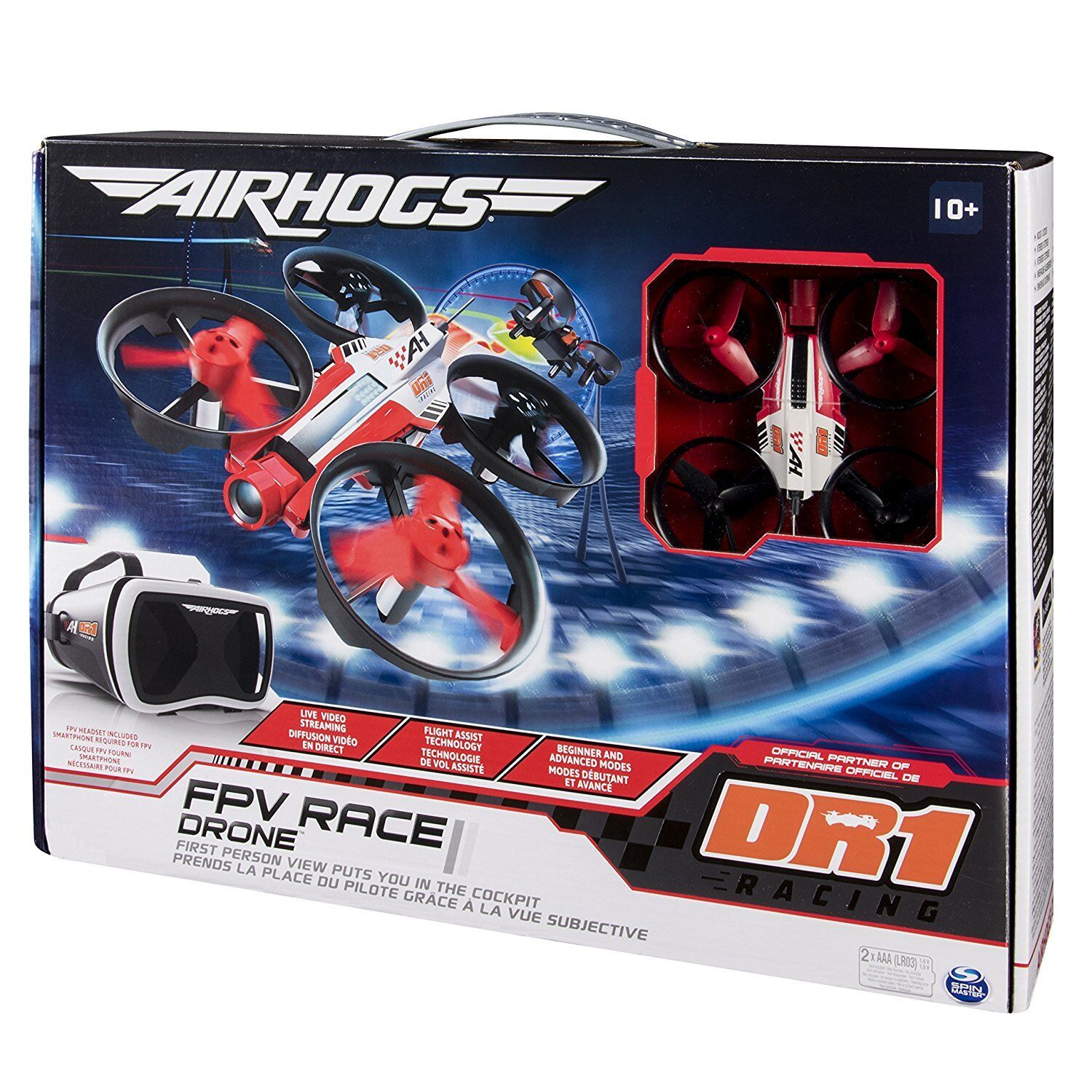 Spinmaster Air Hogs DR1 FPV Micro Race Drone Accessory Age 10+ Head set included