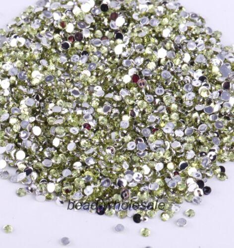 2000 Nail Art Rhinestone Acrylic Studs Gems Dimonte Decoration 2mm