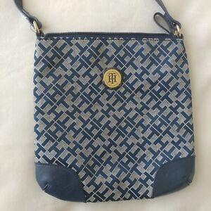 tommy hilfiger navy blue purse