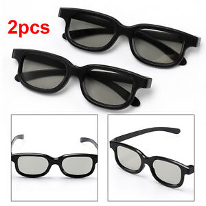 2-Pairs-of-high-Quality-3D-Passive-3D-Glasses-Black-for-3D-TV-LG-039-s-etc-RealD