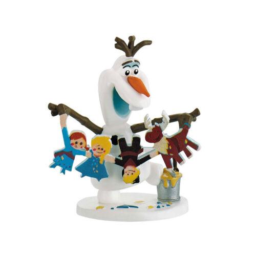 "Disney Olafs Frozen Adventure NOUVEAU # Bullyland 12943 personnage /""Olaf avec guirlande/"""