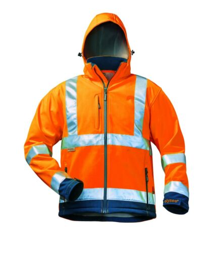 ELYSEE Warnschutz Softshel Jacke Arbeitsjacke Berufsjacke Logistikjacke Baujacke