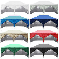 Quictent Silvox® 10x20'ez Pyramid-roofed Pop Up Canopy Gazebo Party Tent 7 Color