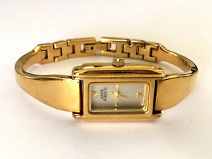 2382059ea46d ANNE KLEIN II 10 6096 7GP 753H JAPAN MOVT LADIES WRIST WATCH GOLD ...