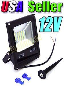 12v Low Voltage 20w Cool Pure White Led Slim Flood
