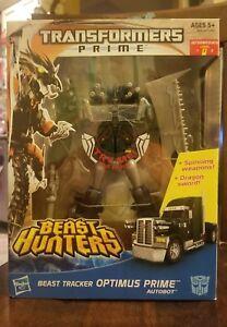 Transformers Prime: classe Beast Tracker Optimus Prime * nouvelle * Misb de la classe Leader