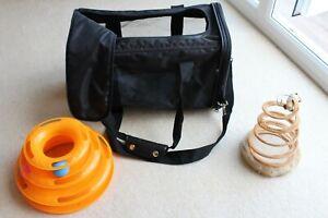 Léger Amazon Chat Transporteur Net Côté Bracelet Noir Plis & Jouets Très Peu Utilisé-afficher Le Titre D'origine Cool En éTé Et Chaud En Hiver