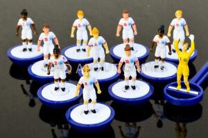 Women's England Football Subbuteo Team senza confezione Giocattolo Figure Calcio Miniatures