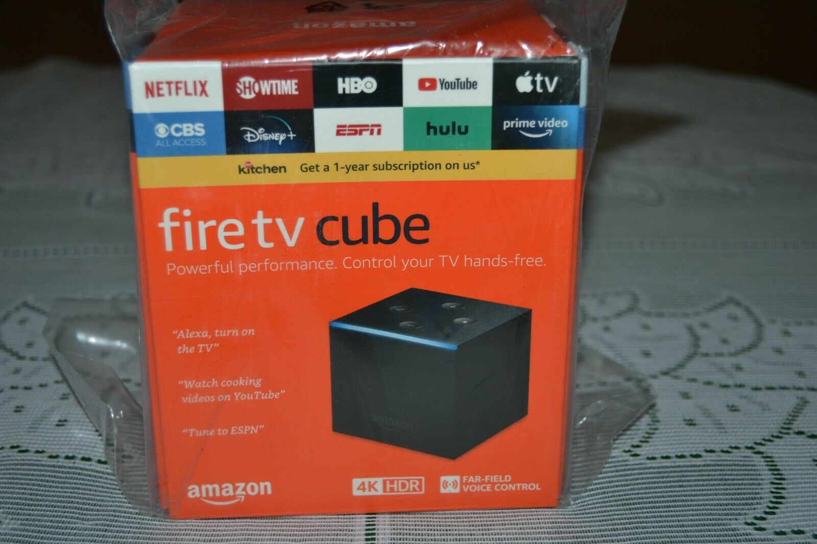 New in box ~ Amazon Fire TV Cube hands free Alexa 4K Streaming Player alexa amazon box cube fire free hands new player streaming