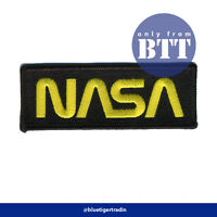 NASA Space Agency Logo Iron Sew On Black Patch Badge