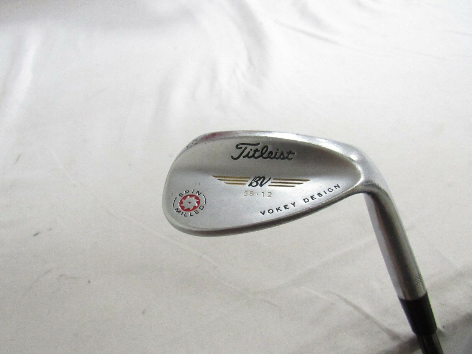 Titleist Vokey Spin Milled 2009 58 Lob Wedge LW 58.12 KBS Wedge flex Steel RH