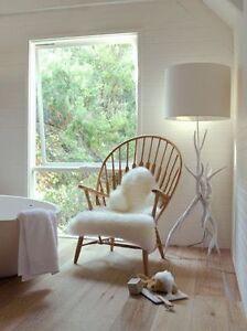 Image Is Loading Ikea Tejn White Faux Sheepskin Rug Modern Throw