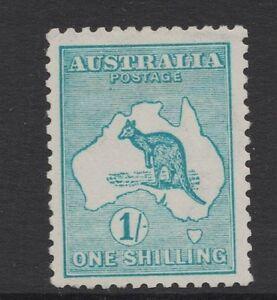 1916-Australia-Roo-1-Blue-Green-Third-WMK-MLH-SG-40
