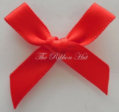 Satin Ribbon Bows-4cm x 3cm-Pkt of 10//30//50//100- 10mm Ribbon Embellishment