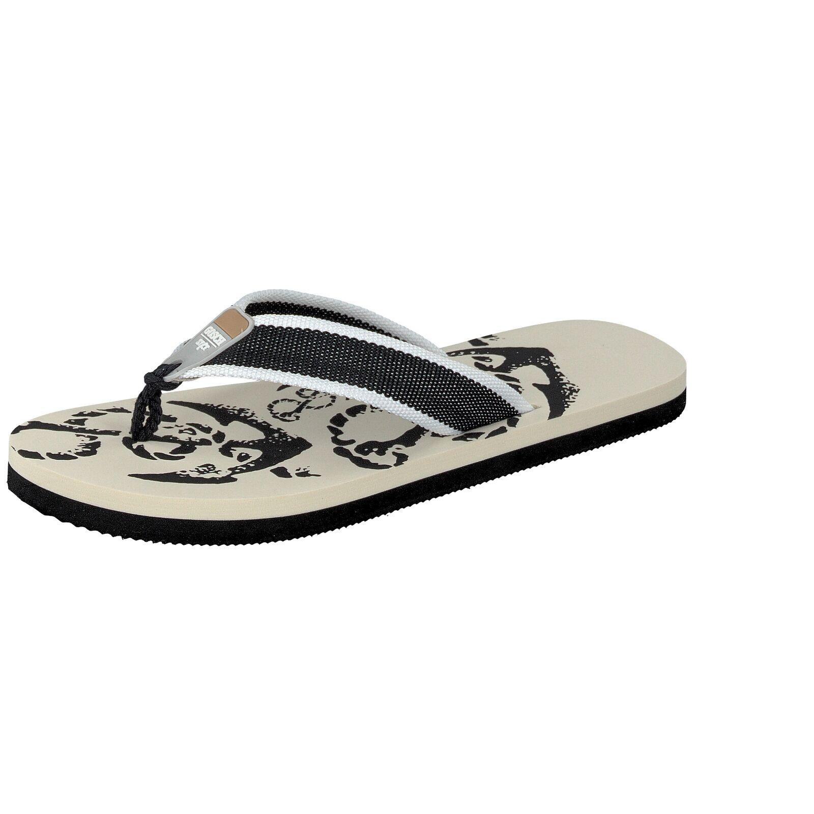 Gosch Shoes Sylt Herren Schuhe Zehentrenner Sommer Badeschuhe 8107-702 Schwarz